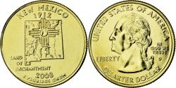 Us Coins - Coin, United States, New Mexico, Quarter, 2008, U.S. Mint, , Gold
