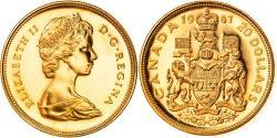 World Coins - Coin, Canada, Elizabeth II, 20 Dollars, 1967, Royal Canadian Mint, Ottawa