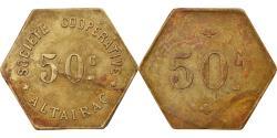 World Coins - Coin, Algeria, Société Coopérative, Altairac, El Harrach, 50 Centimes, Rare