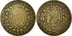 World Coins - France, Token, Maison commune de Blois, Gaston d'Orléans, 1630,