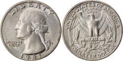Us Coins - Coin, United States, Washington Quarter, Quarter, 1981, Philadelphia,