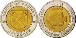 World Coins - CABINDA, 2.50 Escudo Convertivel, 2003, , Bi-Metallic, KM:6