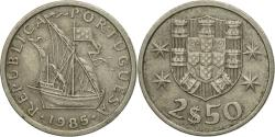 World Coins - Coin, Portugal, 2-1/2 Escudos, 1985, , Copper-nickel, KM:590