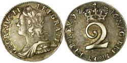 World Coins - Coin, Great Britain, George II, 2 Pence, 1746, , Silver, KM:568