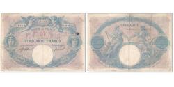 World Coins - France, 50 Francs, 50 F 1889-1927 ''Bleu et Rose'', 1918-07-27, VF(20-25)