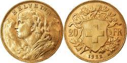 World Coins - Coin, Switzerland, 20 Francs, 1922, Berne, , Gold, KM:35.1