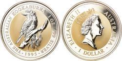 World Coins - Coin, Australia, Australian Kookaburra, 1 Dollar, 1995, 1 OZ,BU,