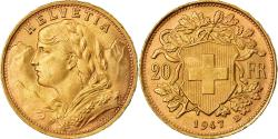 Ancient Coins - Coin, Switzerland, 20 Francs, 1947, Bern, , Gold, KM:35.2