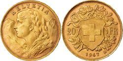Coin, Switzerland, 20 Francs, 1947, Bern, , Gold, KM:35.2