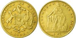 World Coins - Coin, Chile, 2 Pesos, 1860, , Gold, KM:132
