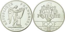 World Coins - Coin, France, 100 Francs, 1989, Paris, Piéfort, , Silver, KM:P1008