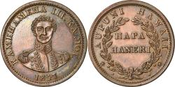 Us Coins - Coin, Hawaii, Kamehameha III, Cent, 1847, , Copper, KM:1f