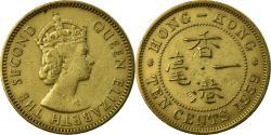 World Coins - Coin, Hong Kong, Elizabeth II, 10 Cents, 1959, Heaton, ,  Nickel-brass