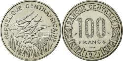 World Coins - Coin, Central African Republic, 100 Francs, 1971, MS(65-70), Nickel, KM:E2