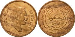 World Coins - Jordan, Hussein, 5 Fils, 1/2 Qirsh, 1978, , Bronze, KM:36