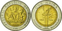 World Coins - Coin, Nigeria, Naira, 2006, , Bi-Metallic, KM:18