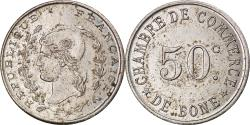 World Coins - Coin, Algeria, Chambre de Commerce, Bône, 50 Centimes, ESSAI,