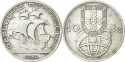 World Coins - PORTUGAL, 10 Escudos, 1954, KM #586, , Silver, 30, 12.37