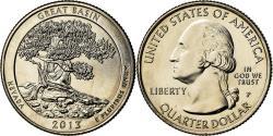 Us Coins - Coin, United States, Nevada, Quarter, 2013, U.S. Mint, Philadelphia,