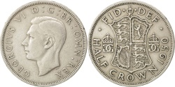 World Coins - GREAT BRITAIN, 1/2 Crown, 1950, KM #879, , Copper-Nickel, 32.3, 14.03
