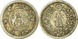World Coins - Coin, Japan, Mutsuhito, 5 Sen, 1873, , Silver, KM:22