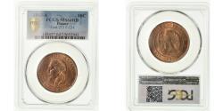 World Coins - Coin, France, 10 Centimes, 1863, Paris, PCGS, MS64RB, Bronze, KM:798.1, graded