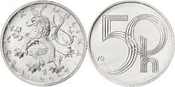 World Coins - CZECH REPUBLIC, 50 Haleru, 2007, Jablonec nad Nisou, KM #3.2, , Aluminum,.