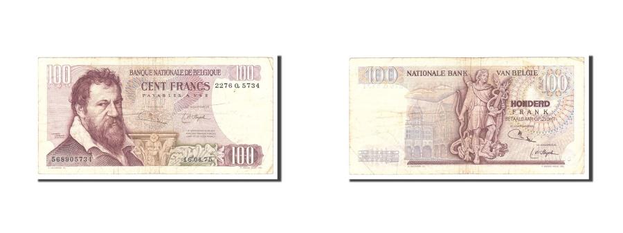 World Coins - Belgium, 100 Francs, 1974, KM:134b, 1974-05-29, EF(40-45)