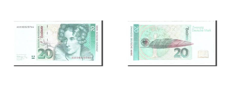 World Coins - GERMANY - FEDERAL REPUBLIC, 20 Deutsche Mark, 1991, KM:39a, 1991-08-01, EF(40...