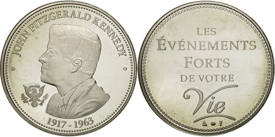 World Coins - France, Medal, Les événements forts de votre vie, John Fitzgerald Kennedy