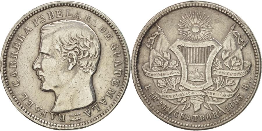 World Coins - Guatemala, 4 Reales, Cuatro, 1863, , Silver, KM:140