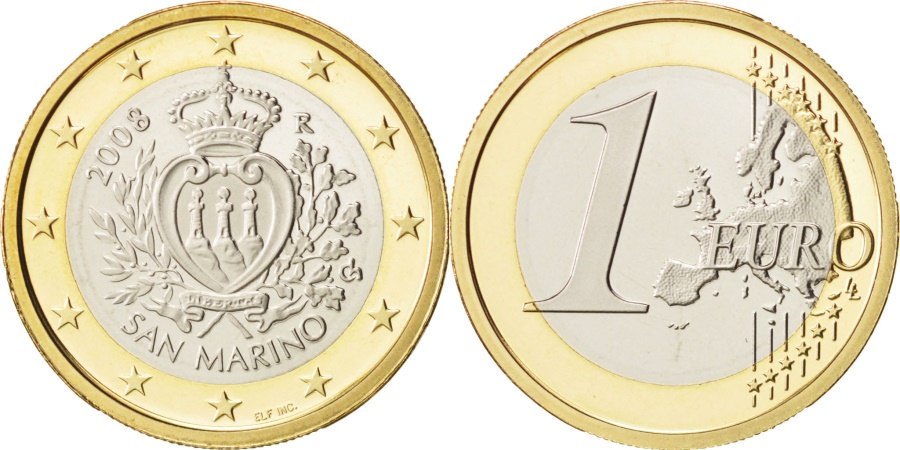 World Coins - San Marino, Euro, 2008, , Bi-Metallic, KM:485