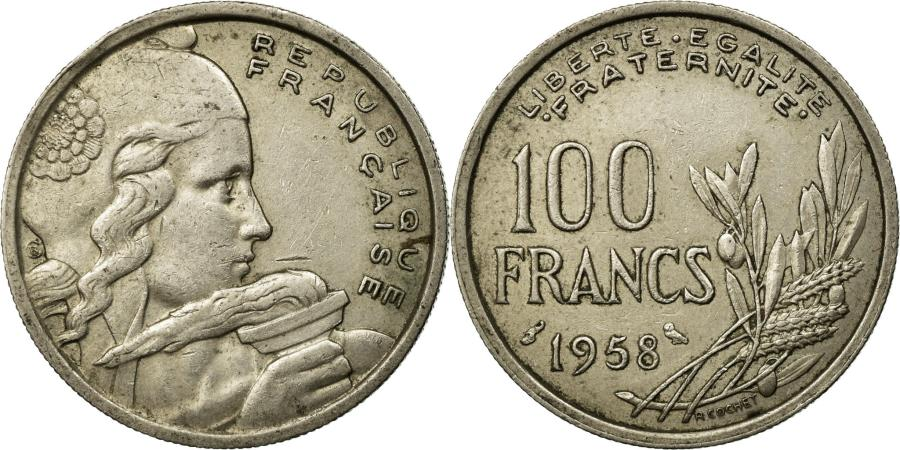 World Coins - Coin, France, Cochet, 100 Francs, 1958, Chouette, , Copper-nickel