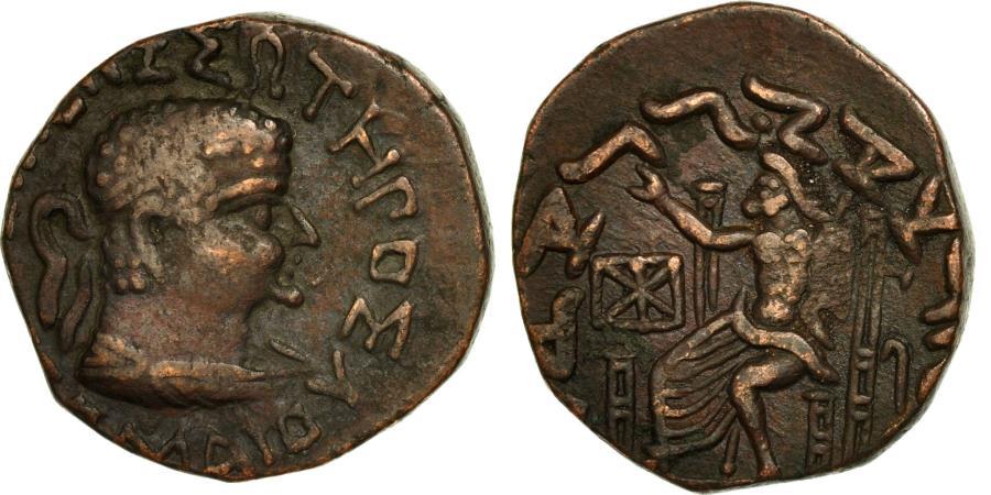 Ancient Coins - Coin, Baktrian Kingdom, Hermaios, Tetradrachm, EF(40-45), Bronze