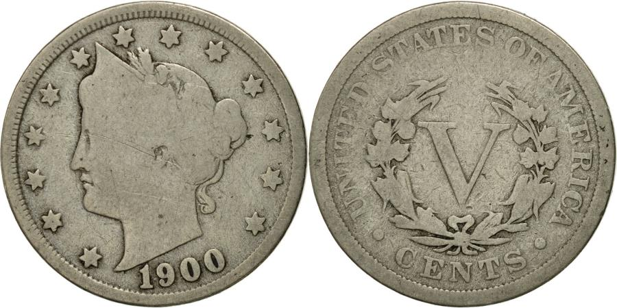 US Coins - Coin, United States, Liberty Nickel, 5 Cents, 1900, U.S. Mint, Philadelphia