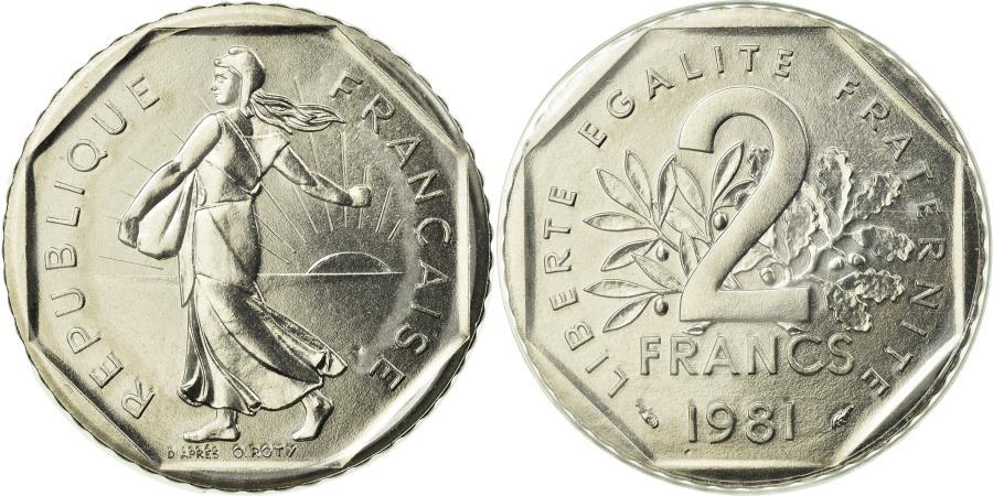 World Coins - Coin, France, Semeuse, 2 Francs, 1981, , Nickel, KM:942.1, Gadoury:547