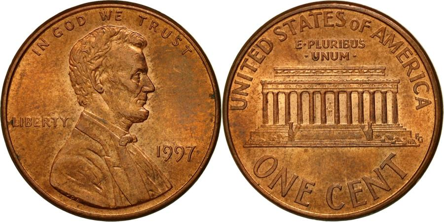 US Coins - Coin, United States, Lincoln Cent, Cent, 1997, U.S. Mint, Philadelphia