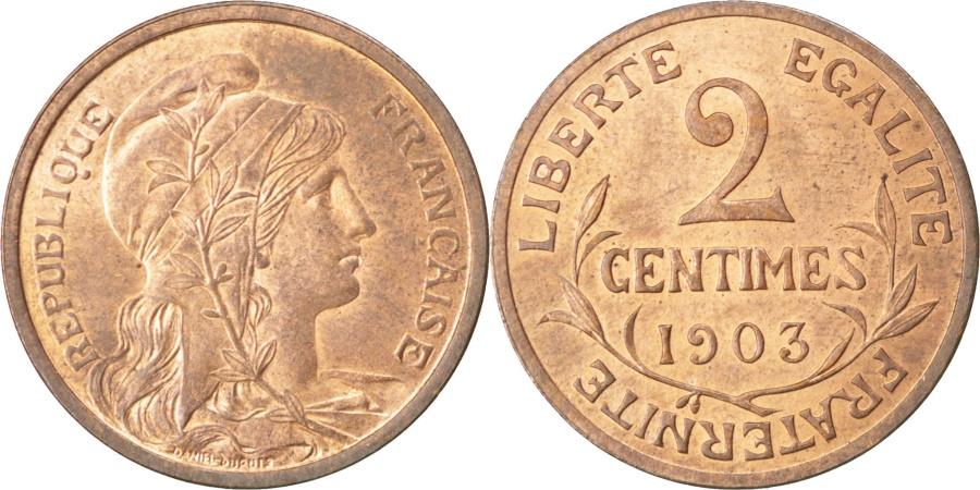 World Coins - FRANCE, Dupuis, 2 Centimes, 1903, Paris, KM #841, , Bronze, 20.2, Gadoury.