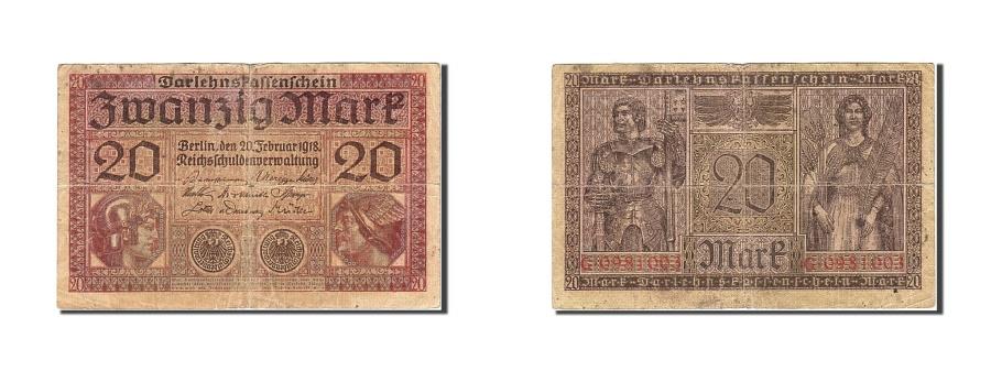 World Coins - Germany, 20 Mark, 1917-1918, KM:57, 1918-02-20, F(12-15)