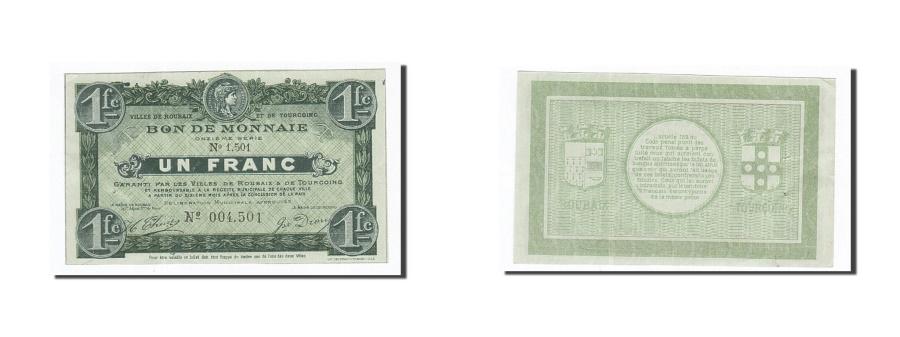 World Coins - France, Roubaix et Tourcoing, 1 Franc, 1917, UNC(60-62), Pirot:59-2175