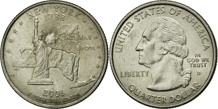 US Coins - Coin, United States, Quarter, 2001, U.S. Mint, Denver, AU(55-58), Copper-Nickel