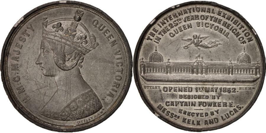 World Coins - Great Britain, Queen Victoria, 1862 International Exhibition, Sciences