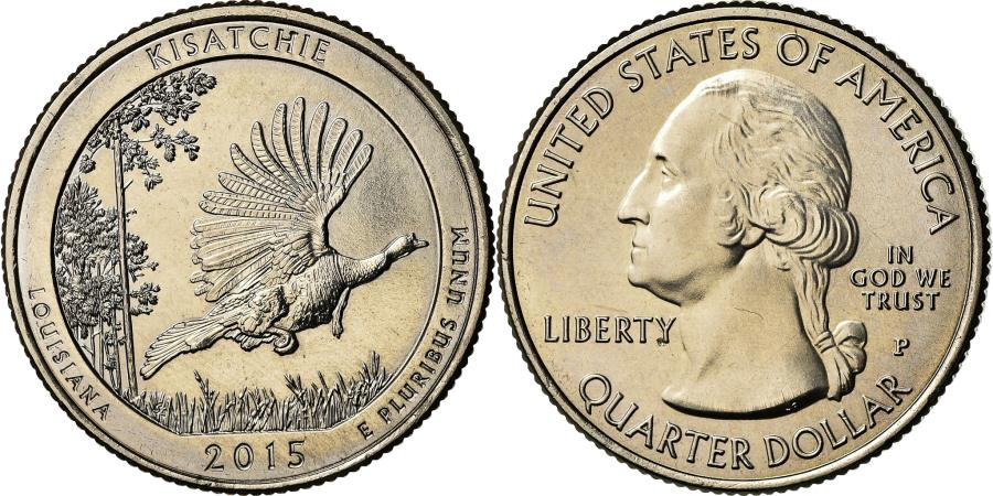 US Coins - Coin, United States, Louisiana, Quarter, 2015, Philadelphia,