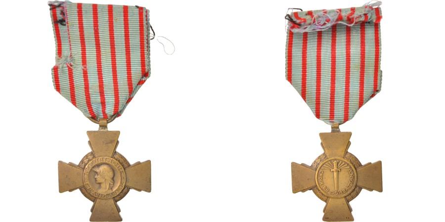 World Coins - France, Croix de Guerre de 1914-1918, Medal, Good Quality, Bronze