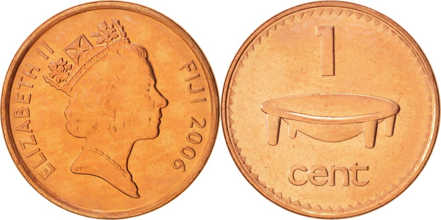 World Coins - Fiji, Elizabeth II, Cent, 2006, Royal Canadian Mint, Ottawa, , Copper
