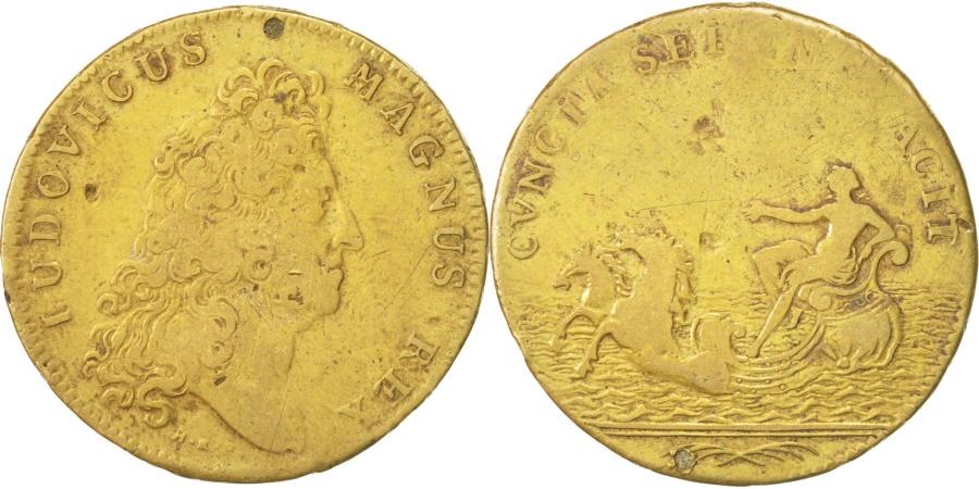 World Coins - France, Royal, Louis XIV, 28mm, Token