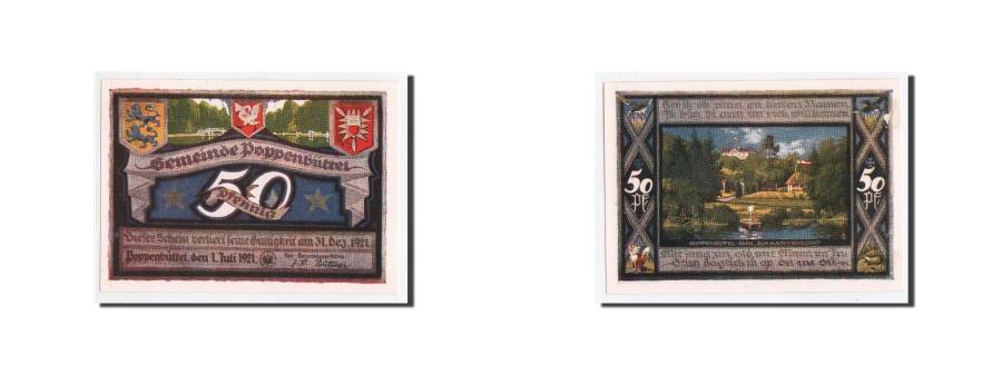 World Coins - Germany, Poppenbüttel, 50 Pfg, paysage 5, 1921-07-01, UNC(65-70), Mehl:1068.2