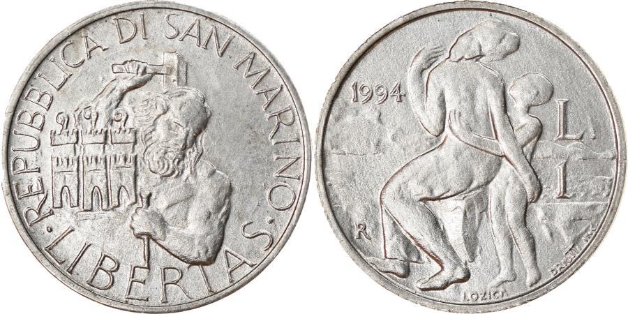 World Coins - Coin, San Marino, Lira, 1994, Rome, , Aluminum, KM:306