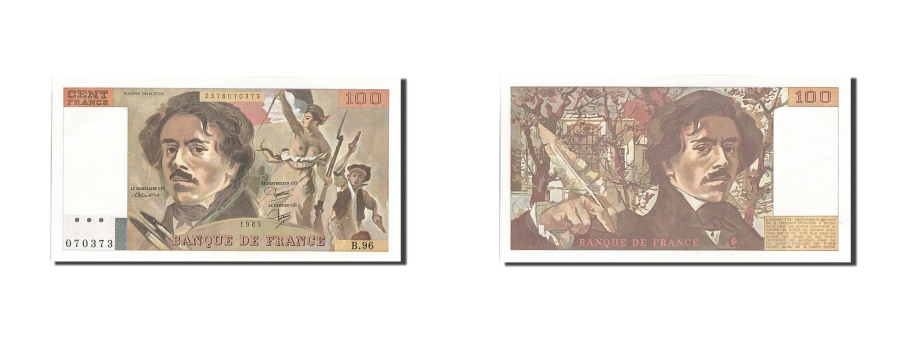 World Coins - France, 100 Francs, 100 F 1978-1995 ''Delacroix'', 1985, KM #154b, UNC(63),...