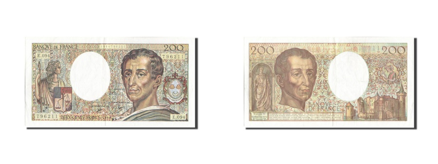 World Coins - France, 200 Francs, 200 F 1981-1994 ''Montesquieu'', 1990, KM:155d, 1990, EF(...